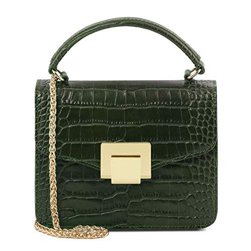Tuscany Leather TL Bag Mini borsa in pelle effetto cocco - TL141890 (Verde Foresta)