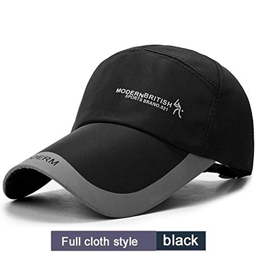 Spring Heren Golfpetten Outdoor Shade Cap Sport Baseballhoeden Poncho's Zonbescherming Hoed, zwarte doek