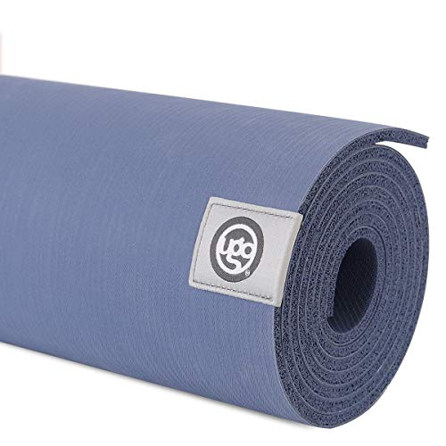 UGO Yoga Mat Pilates and Floor Exercises Fitness Eco Friendly and Natural Rubber Non-Slip Travel Mat(5MM) (Prussian Blue)