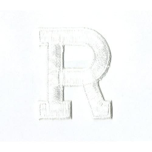 "White Script  Letter /""U/"" SCRIPT LETTERS Iron On Embroidered Applique"
