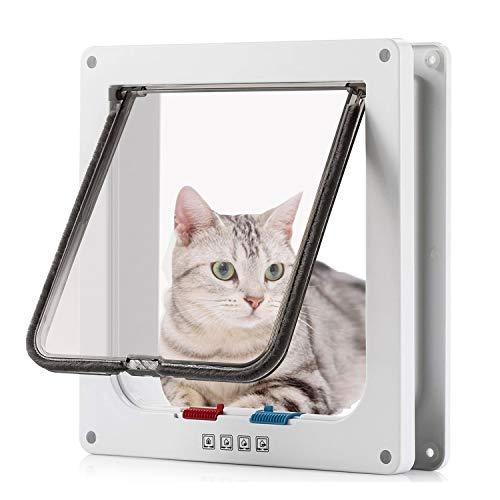 Pujuas Porta per Gatti e Cani, Porta Schermo per Animali Domestici, Entrata e Uscita Controllabile, Porta Scorrevole per Finestra di Sicurezza per Animale Domestico