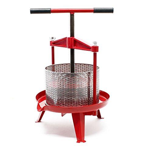 Prensa de fruta de acero inoxidable Capacidad de 14 litros Prensa de...
