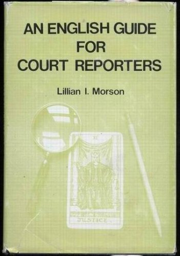 English Guide for Court Reporters