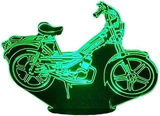 CICLOMOTORE MOTOBECANE 51, Lampada illusione 3D con LED - 7 colori.