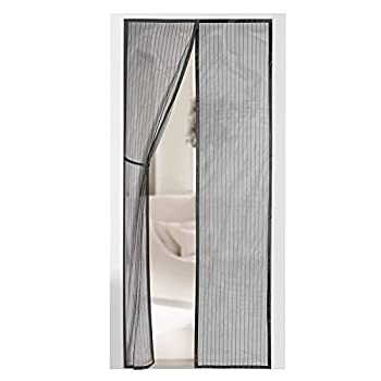 Magnetic Screen Door - Self Sealing Heavy Duty Hands Free Mesh Partition Keeps Bugs Out - Pet and Kid Friendly - Patent Pending Keep Open Feature - 38  x 83  - by Augo