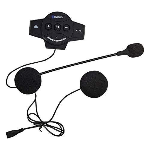 Exanko Casco Interfono de Motocicleta Auriculares InaláMbricos con MicróFono Intercomunicador Manos Libres