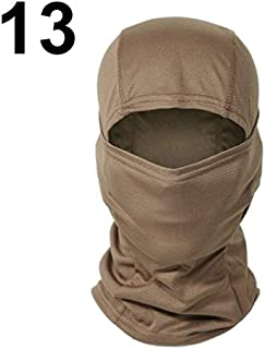 WENPINHUI Full Face Neck Scarf Head Warmer Outdoor Hunting Cycling Hiking Skiing Scarf Army Camo Bandana (Color : Brown)