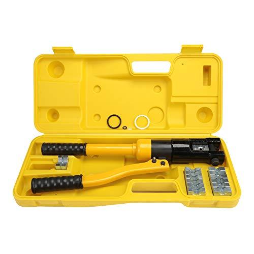 NOBGP Kabelpresswerkzeug, hydraulische Handpresse, Kabelpresswerkzeug, Edelstahl-Kabelgeländer mit 8 Sätzen Presseinsätzen für 1/8