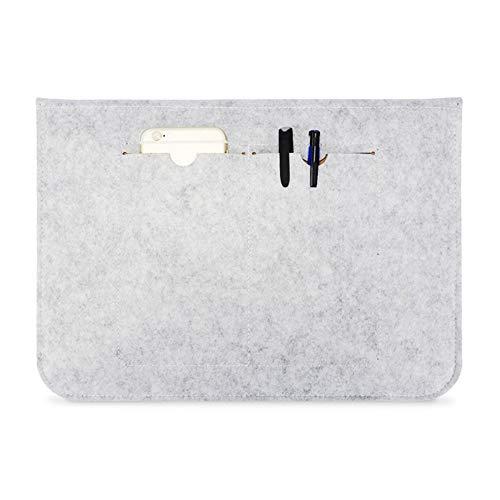 MGWA Stilvolle Minimalist Design Tragbarer Luftdurchlässigem Felt-Hülsen-Beutel for MacBook Laptop,Mit Power-Speicher-Beutel Rucksack (Color : Gray, Size : 15inch)