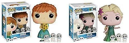 Disney Frozen Fever Anna, Elsa Pop  Vinyl Figures Set of 2  by Frozen