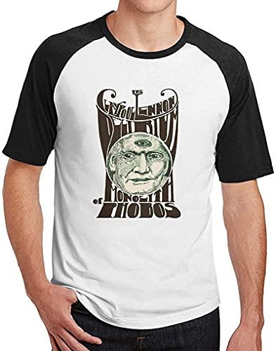 light Saber DUN Claypool Lennon Delirium Herren Raglan T-Shirt Rundhals Baseball T-Shirt Schwarz Perceptual Pleasing The Eye, Schwarz , M