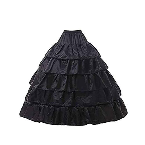 Mallalah Crinolina Enaguas Mujer Largas para Vestidos de Novia Boda Faldas Falda Enagua de Crinolina para Mujer Falda de Bata de Baño Chaqueta de Crinolina para Vestido de Novia