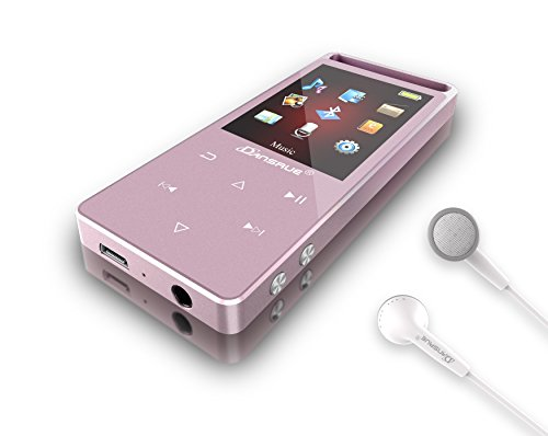 Dansrue MP3 Player with Bluetooth, 8GB Metal Digital Music Audio Player with Touch Button FM Radio...