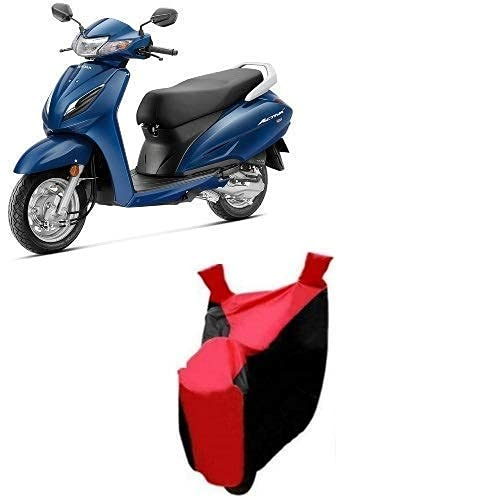 DARROR Honda Activa 6G Scooty and Honda Bikes Body Cover and 100% Water Resistant (Red Strip)