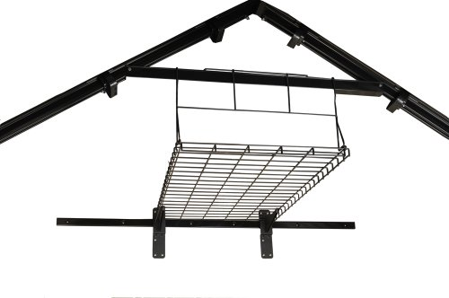 Suncast Loft Shelf-Ceiling Storage and Shelving Shed Holds up to 50 Lbs, Black