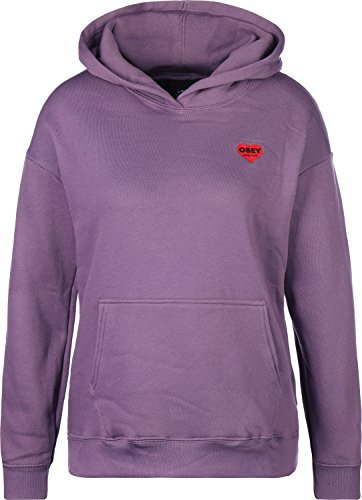 Obey Lonely Hearts W Hoodie Grape