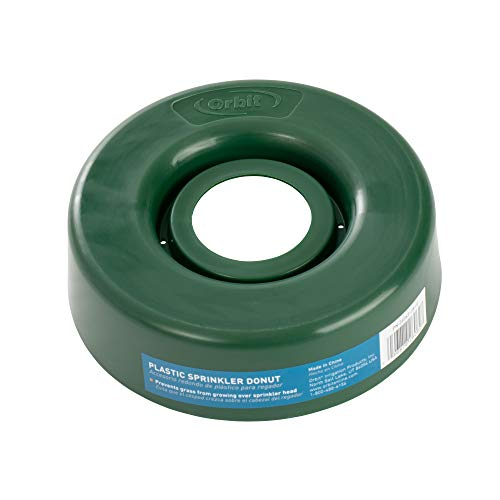 5 Pack - Orbit Plastic Sprinkler Guard Donut - Prevent Grass Over Sprinklers - 26062