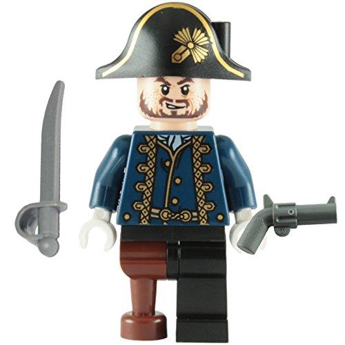 LEGO Fluch der Karibik - Minifigur Hector Barbossa Holzbein mit Degen & Pistole 4192
