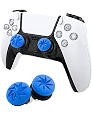 MAXKU FPSフリーク PS5 PS4 コントローラー用 親指グリップキャップ 可動域アップ プレイステーション5コントローラ用 FPSフリーク 2つのパフォーマンスサムスティック (ブルー)