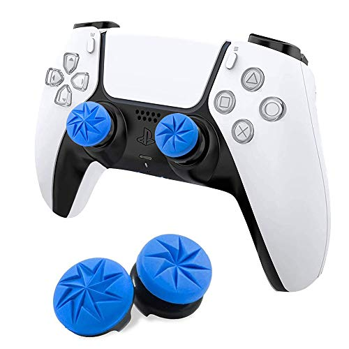 MAXKU FPSフリーク PS5 PS4 コントローラー用 親指グリップキャップ 可動域アップ プレイステーション5コントローラ用 FPS Freek 2つのパフォーマンスサムスティック (ブルー)