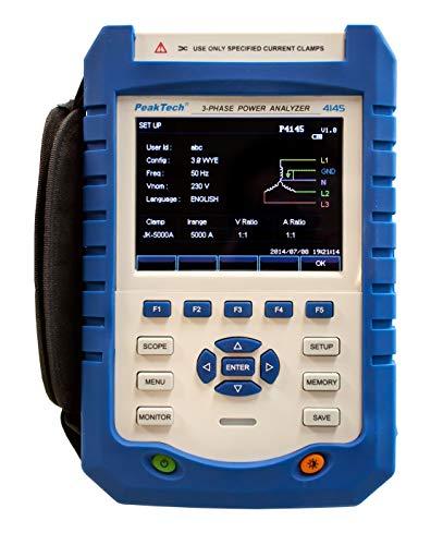 PeakTech P 4145 - Analizador de red de 3 fases (LAN, USB, pantalla TFT y registro de datos)