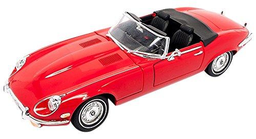 Jaguar E-Type Roadster, rot, 1971, Modellauto, Fertigmodell, Lucky Die Cast 1:18