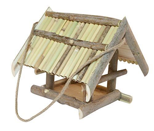 Windhager Vogelfutterhaus Zugspitze, Vogelfuttersilo, Vogelhaus, Futterspender für Vögel, inklusive Aufhängeschnur, Vogelhäuschen aus Massivholz, 06843