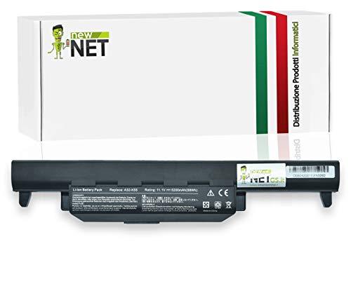 NEWNET Batterie pour ordinateur Asus 10,8–11,1V 4400mAh X45C X45U X45V X45VD X55 X55A X55C X55U X55V X55VD X75 X75A X75V X75VD