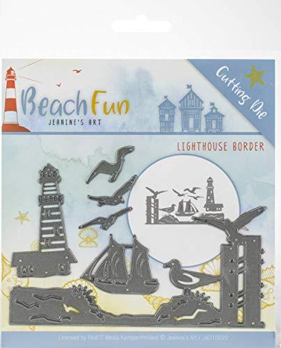 Find It Trading Jeanine's Art Beach Fun Die-Lighthouse Border