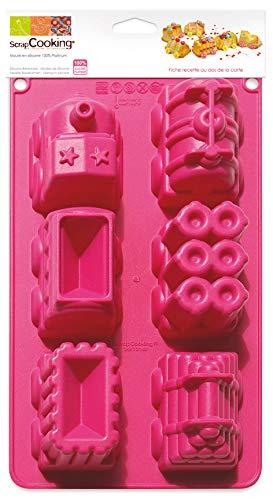 Unbekannt Scrapcooking 3148Silikon-Backform Zug Rosa 33x 17,5x 5cm
