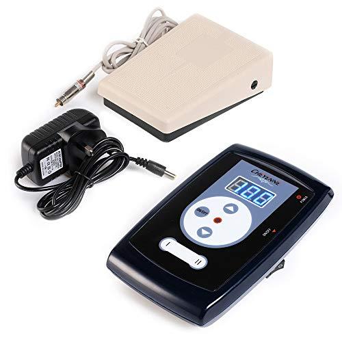LPVIE Máquina De Tatuaje Profesional Power + Interruptor De Pie, 2 Dispositivos Están Conectados Al Mismo Tiempo Control Digital LCD Fuente De Alimentación Ajustable Accesorios para Tatuajes,P1662