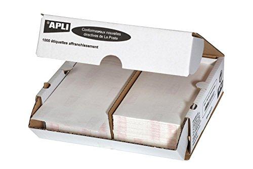 agipa 14019 Frankier-Etiketten, 175 x 45 mm, weiß, doppelt