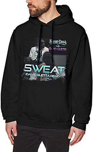 Men's Sweat Snoop Dogg Vs. David Guetta Remix Casual Style Hoodies Black Personality Top Sudaderas con Capucha para Hombre