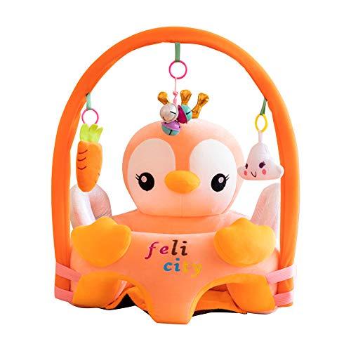 Cartoon Baby Plüsch Stuhl Sofa Infant Learning Sitz Stuhl Baby Spielzeug Support Sitz Training Stützfütterung (Pinguin mit Stange)