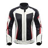 Chaqueta de la Motocicleta de Las Mujeres, Traje de los Pantalones de Motocicleta de Verano, Moto Transpirable de Malla de Moto de Moto Conjunto de Ropa Gray Jacket L