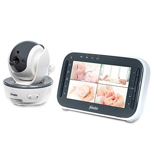 Alecto DVM-200 Funk Babyphone (100% störungsfrei), mit steuerbarer Kamera, Nachtsicht, hohe Reichweite von bis zu 300 Meter, 11 cm. Mehrkameradisplay…
