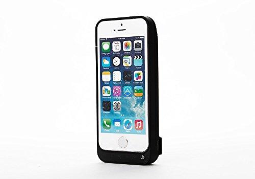 Mbuynow 4200mAh Carcasa de Copia de Seguridad Batería Externa Cargador de batería Carcasa para Apple iPhone 55C 5S (Negro)