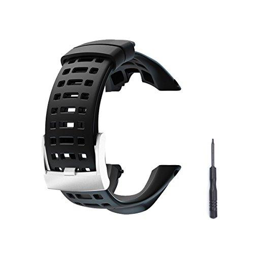 Bracelet de montre, Vindar 2018 Nouveau caoutchouc flexible Regarder le remplacement, Dragonne pour Suunto Ambit 1/2/ 2S/2R/3 Sport/3 Run/3 PEAK