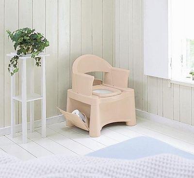 安心のSGマーク取得モデル 新輝合成 ポータブルトイレ HS型 ベージュ