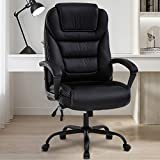 Big & Tall Office Chair Heavy Duty 500LBS Desk Chair Ergonomic High Back Wide Seat Computer Chair with Lumbar Support & Armrest & Headrest PU Leather Task Swivel Executive Chair for Adult Man Women