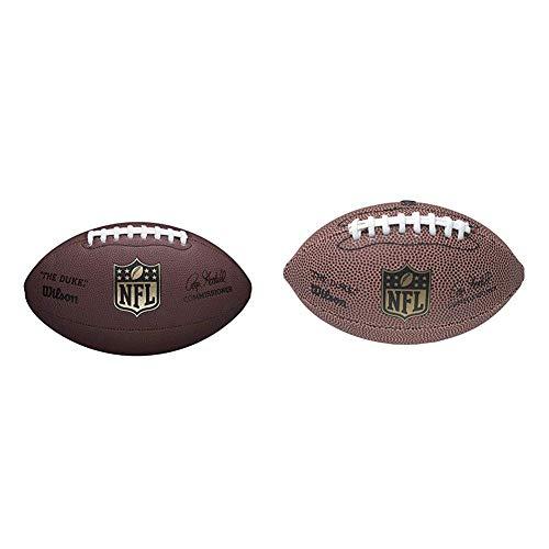 Wilson WTF1825XB NFL Duke Replica Composite Fußball, Braun & American Football, NFL Team Mini Micro, Freizeitspieler und Sammler, Gummi, F1637, Größe Mini, Braun