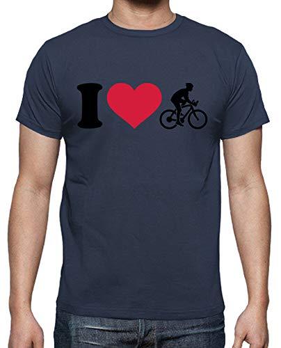 tostadora - Camiseta Amo Bike para hombre. denim S