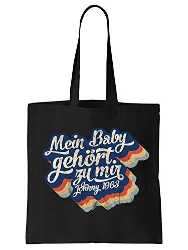 clothinx Einkaufstasche Mein Baby gehört zu mir Schwarz