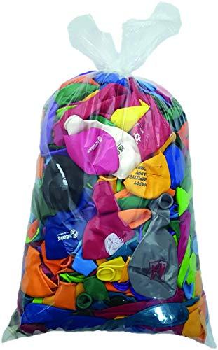 deqoo Luftballon Fehldrucke Beutel mit ca. 1,8 kg bunt gemischt mit mindestens 500 Stück 25-40cm Durchmesser Ideal für Hochzeiten, Abifeiern, Firmenanlässe und Geburtstage