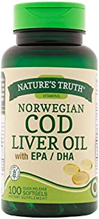 Nature's Truth Norwegian COD Liver Oil Supplement, 100 Count