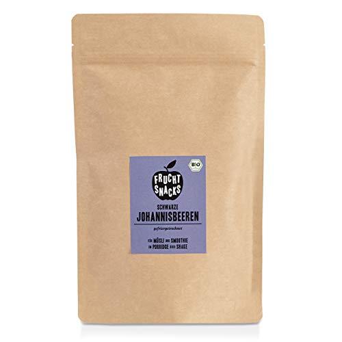 BIO Johannisbeere gefriergetrocknet 100g I Ganze getrocknete schwarze Johannisbeeren bio ungezuckert I 100% Frucht, voller Geschmack