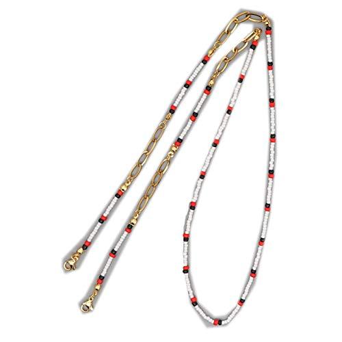 Lanyards Collar de cadena para las mujeres Boho joyería 2020 granos de semillas collares correa de cordón cadenas de acero inoxidable al por mayor