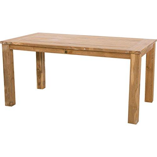 Lesli Living Table Tableau Nantes Table de Jardin en Teck recyclé 180 x 90 x 76 cm
