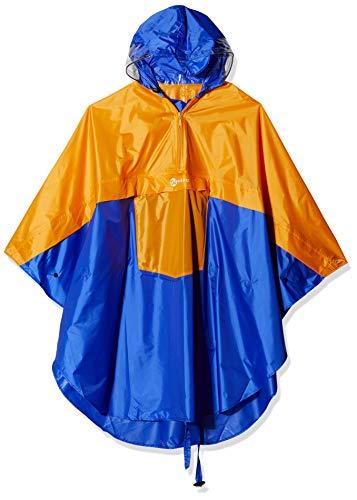 Wafo Tirol Unisex Trekking And Bike Poncho verstelbare capuchon jas, oranje/royal, M