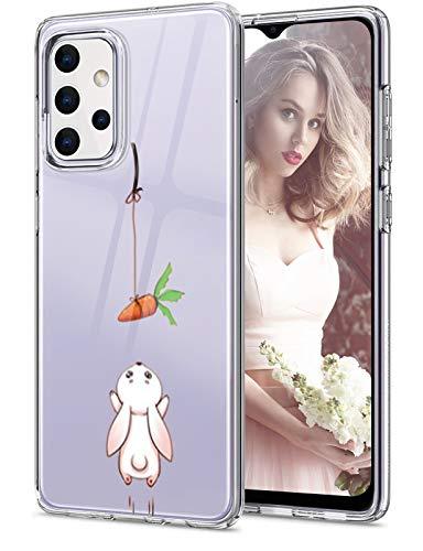 Funda para Samsung Galaxy A32, funda original transparente flexible de silicona A32, funda con estampado animal Galaxy A32, funda fina 360 grados, antigolpes, carcasa para Samsung A32
